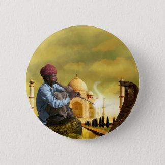 Chapa Redonda De 5 Cm Taj Mahal
