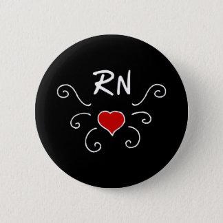 Chapa Redonda De 5 Cm Tatuaje del amor de la enfermera del RN
