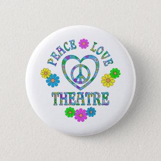 Chapa Redonda De 5 Cm Teatro del amor de la paz