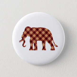 Chapa Redonda De 5 Cm Tela escocesa del elefante