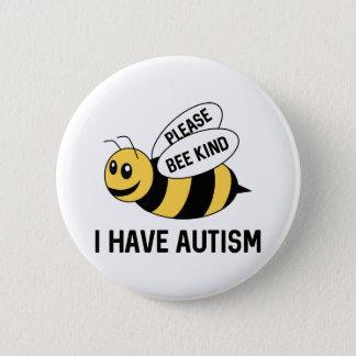 Chapa Redonda De 5 Cm Tengo autismo