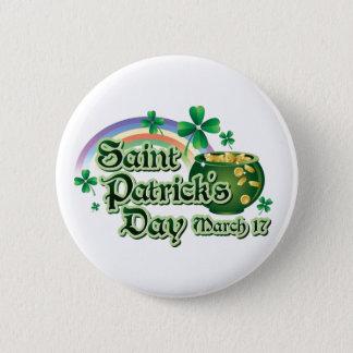 Chapa Redonda De 5 Cm Texto del día de St Patrick feliz