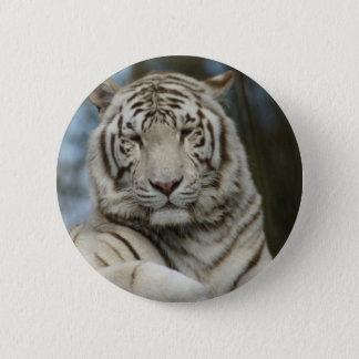 Chapa Redonda De 5 Cm Tigre blanco