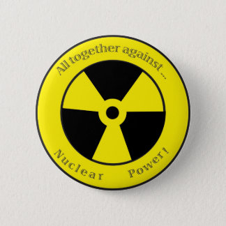 Chapa Redonda De 5 Cm ¡Todos contra… energía atómica!