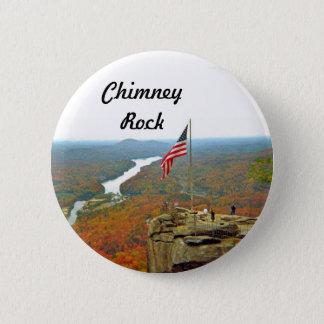 Chapa Redonda De 5 Cm Tome un alza hasta roca de la chimenea