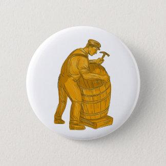 Chapa Redonda De 5 Cm Tonelero que hace el dibujo de madera del barril