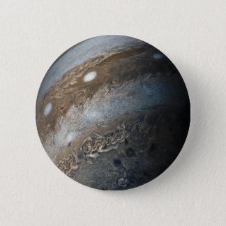 Chapa Redonda De 5 Cm Tormentas en Júpiter de la leva de Juno (2017)