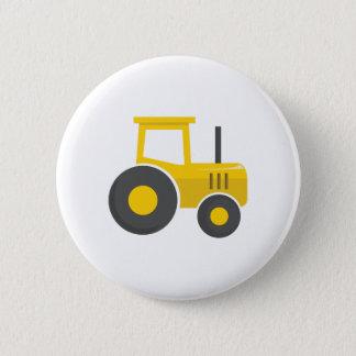 Chapa Redonda De 5 Cm Tractor amarillo