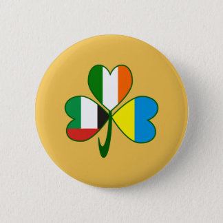 Chapa Redonda De 5 Cm Trébol de los UAE Ucrania Irlanda