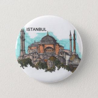 Chapa Redonda De 5 Cm Turquía Estambul Hagia Sophia (por St.K)