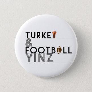 Chapa Redonda De 5 Cm Turquía y fútbol Yinz