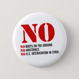 Chapa Redonda De 5 Cm U.S. Intervención en Siria