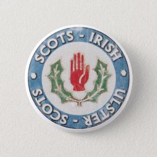 Chapa Redonda De 5 Cm Ulster-Escocés/Escocés-Irlandés