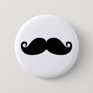 Chapa Redonda De 5 Cm Un diseño divertido de la moda del bigote del