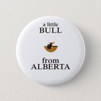 Chapa Redonda De 5 Cm Una pequeña Bull de Alberta