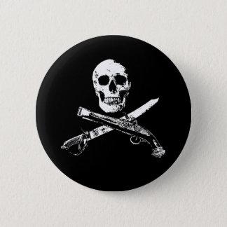 Chapa Redonda De 5 Cm Una vida SkullButton_1 de los piratas
