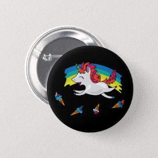Chapa Redonda De 5 Cm Unicornio lindo con el ejemplo fresco del arco