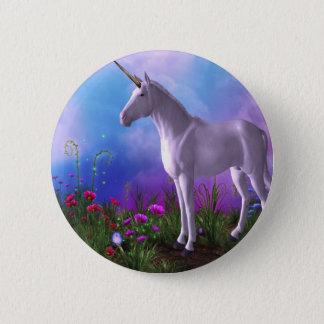 Chapa Redonda De 5 Cm Unicornio majestuoso