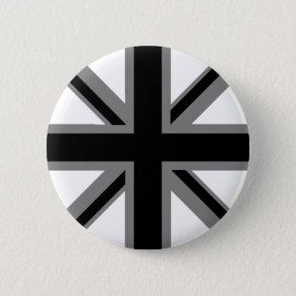 Chapa Redonda De 5 Cm Union Jack negro