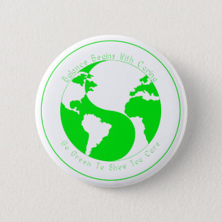Chapa Redonda De 5 Cm Va el verde para mostrarle cuidado