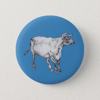 Chapa Redonda De 5 Cm vaca azul