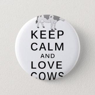 Chapa Redonda De 5 Cm vacas del amor