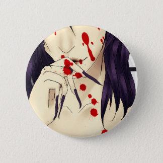 Chapa Redonda De 5 Cm Vampiro con sangre