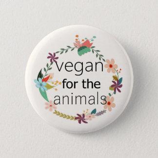 Chapa Redonda De 5 Cm Vegano para el diseño floral de los animales