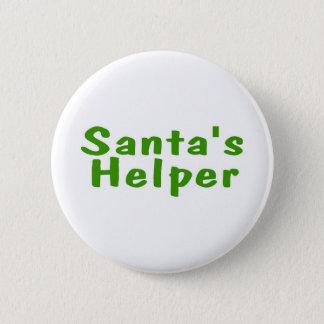 Chapa Redonda De 5 Cm Verde del ayudante de Santas