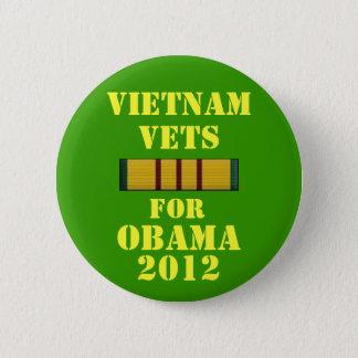 Chapa Redonda De 5 Cm Veterinarios de Vietnam para Obama 2012