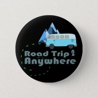 Chapa Redonda De 5 Cm viaje por carretera de la furgoneta del hippie
