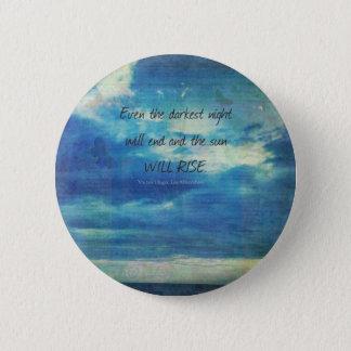 Chapa Redonda De 5 Cm Victor Hugo, cita de Les Miserables inspirada