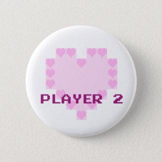 Chapa Redonda De 5 Cm Videojugadores en amor - jugador 2