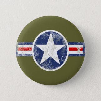 Chapa Redonda De 5 Cm Vintage del cuerpo de aire del ejército