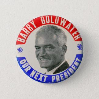 Chapa Redonda De 5 Cm Vintage Goldwater retro 1964 para presidente