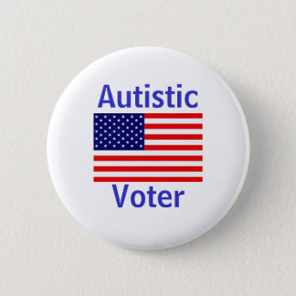 Chapa Redonda De 5 Cm Votante autístico