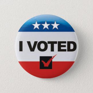 Chapa Redonda De 5 Cm Voté el día simple, independiente de la elección