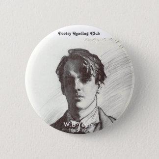 Chapa Redonda De 5 Cm W.B. Yeats