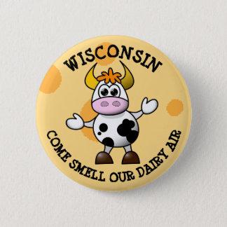 Chapa Redonda De 5 Cm Wisconsin viene olor nuestro Pin divertido de la