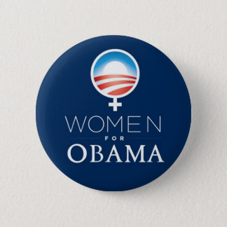 Chapa Redonda De 5 Cm Women_for_Obama_Button