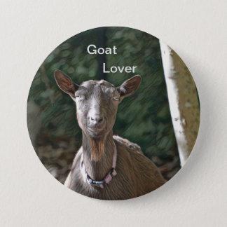 Chapa Redonda De 7 Cm Amante de la cabra