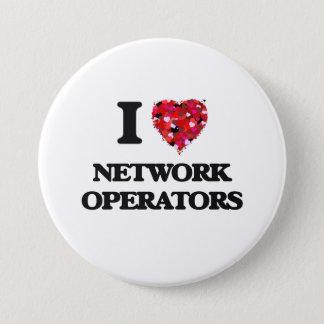Chapa Redonda De 7 Cm Amo a operadores de red