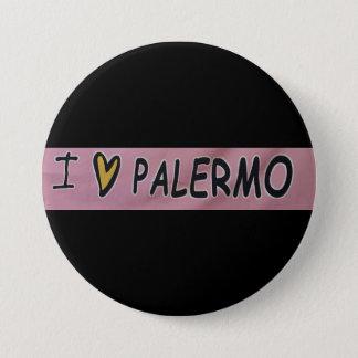 Chapa Redonda De 7 Cm Amo el diseño de Palermo
