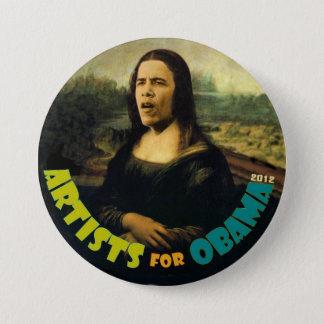 Chapa Redonda De 7 Cm Artistas para Obama: La nueva Mona Lisa