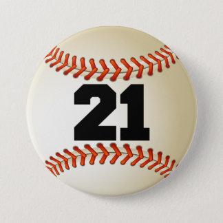 Chapa Redonda De 7 Cm Béisbol del número 21