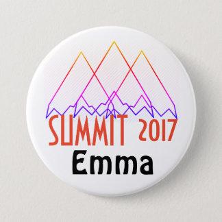 Chapa Redonda De 7 Cm Botones de la cumbre