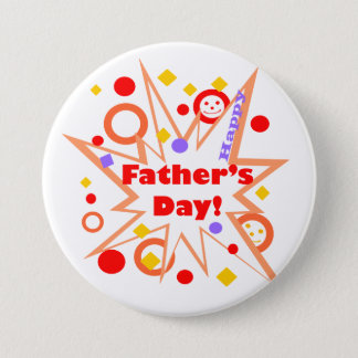 Chapa Redonda De 7 Cm Chapoteo feliz del día de padre