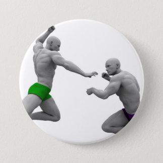 Chapa Redonda De 7 Cm Concepto de los artes marciales para luchar y la
