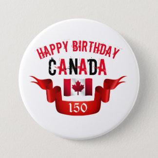 Chapa Redonda De 7 Cm Cumpleaños de Canadá del feliz cumpleaños 150o -