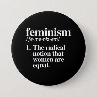 Chapa Redonda De 7 Cm Definición del feminismo - la noción radical que